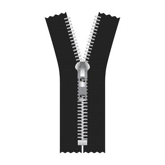 Zipper illustration isolated on white