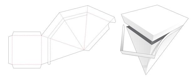 압축 피라미드 상자 다이 컷 템플릿
