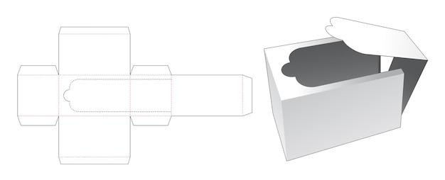 직사각형 상자 다이 컷 템플릿 압축