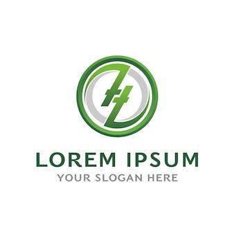 Zl logo letter Premium Vector