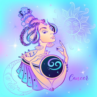Zodiac sign cancer beautiful girl