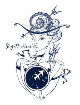 Знак зодиака стрелец красивая девушка