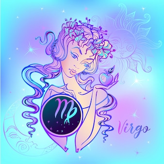Zodiac sign virgo a beautiful girl