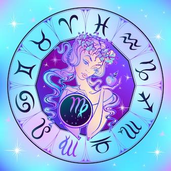 Zodiac sign virgo a beautiful girl