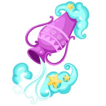 Zodiac signs - aquarius vector illustration