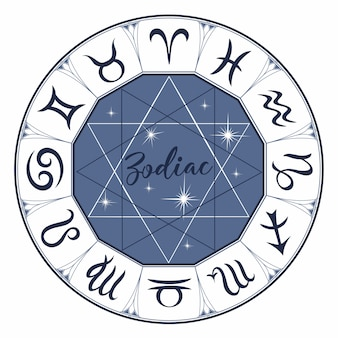 Zodiac. signs. astrology. mystical.