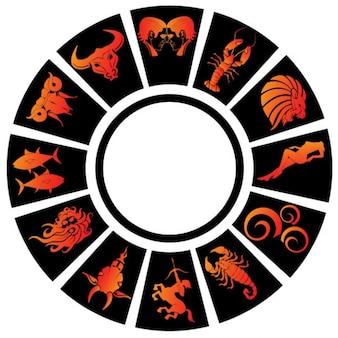 Zodiac signs vector clip art