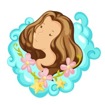 Zodiac signs -virgo vector illustration