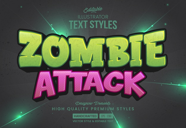 Стиль текста атаки зомби