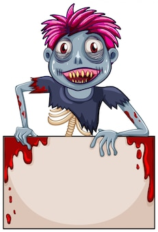 Zombie blank frame concept