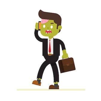 Zombie businessman for halloween