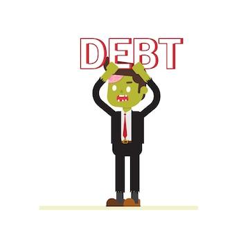 Zombie businessman lifting debt easily