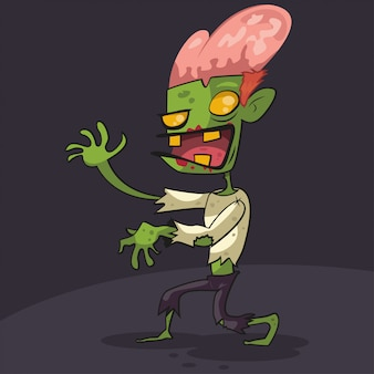 Zombie cartoon character illustration