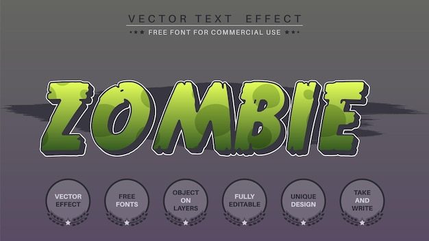 Zombie  edit text effect font style