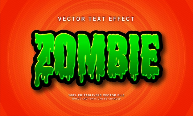 Zombie editable text style effect with halloween event theme