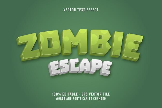 Zombie escape text editable font effect
