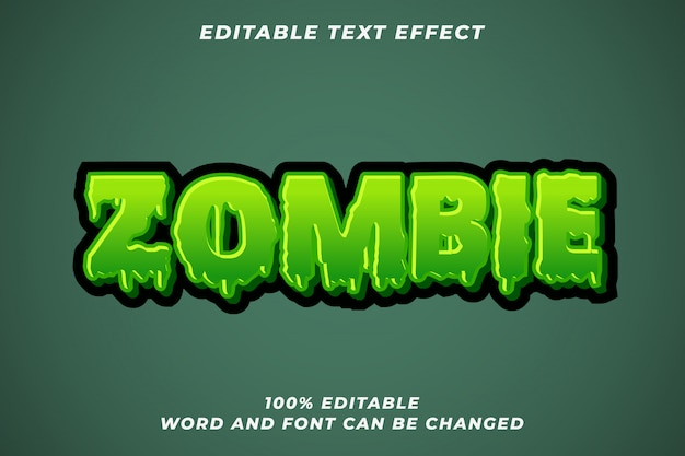 Zombie halloween text style effect