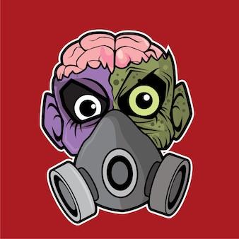 Zombie head - gas mask