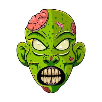 Zombie head mascot logo