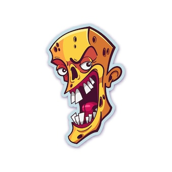 Наклейка на голову зомби