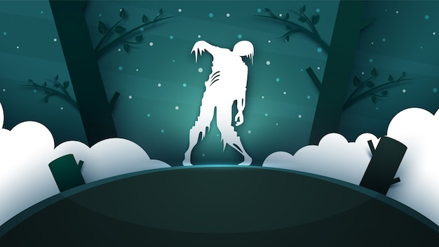 Zombie horror illustration