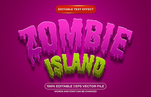 Zombie island editable text style effect suitable for halloween event theme