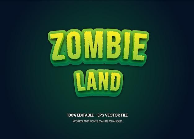 Zombie land 편집 가능한 텍스트 효과