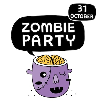 Zombie party background