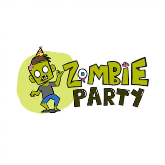 Zombie party halloween vector illustration
