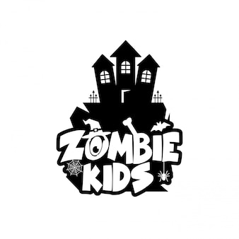 Zombie party typography design vector