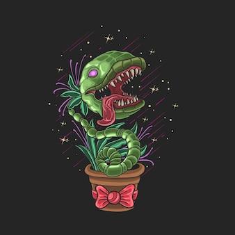 좀비 식물 괴물 짐승 그림