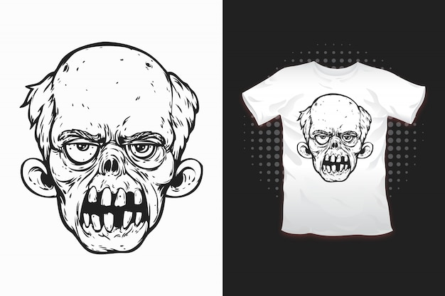 Zombie print for t-shirt design