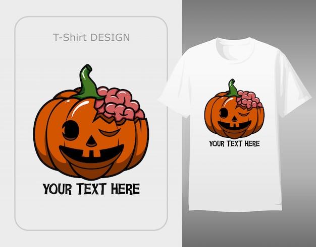 Zombie pumpkin trick or treat halloween