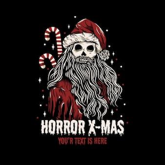 Zombie santa claus at christmas