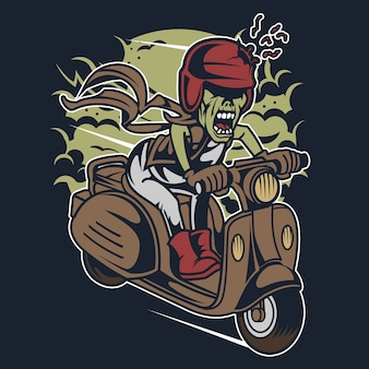 Zombie scooter