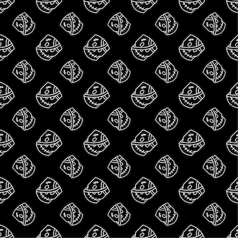 Zombie seamless pattern