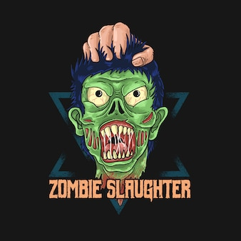 Zombie slaughter illustration