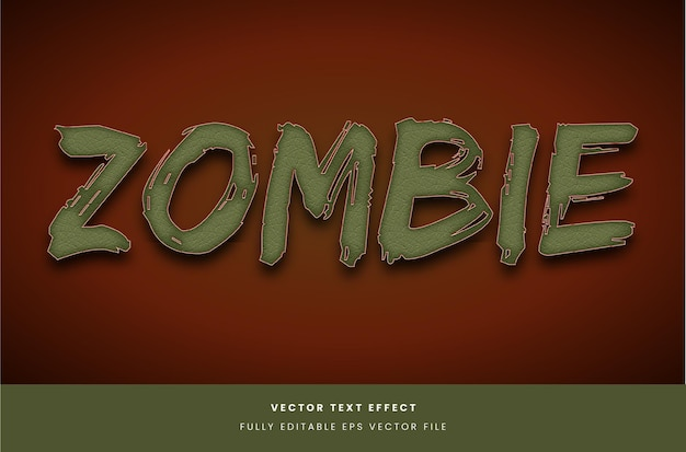 Zombie style text effect