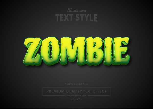 Zombie  text effect