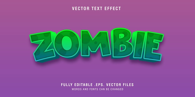 Zombie text style effect editable