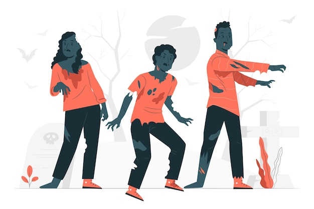 Иллюстрация концепции зомби