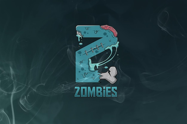 Логотип zombies monogram esport premium