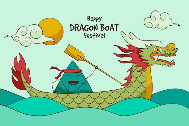 Обои дракон лодки zongzi