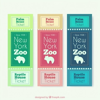Zoo tickets with animal silhouettes