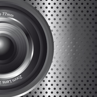 Zoom lens with space for copy background vector illustration