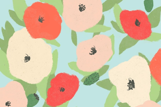 Zoomed colorful poppy backdrop