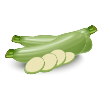 Zucchini whole and sliced