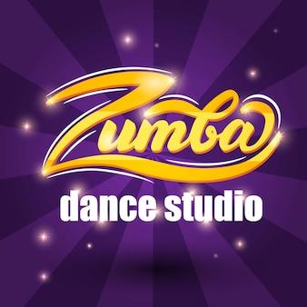 Zumba banner sign. vector illustration