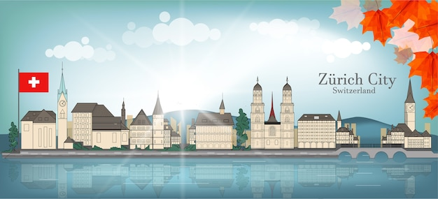 Zurich city switzerland background