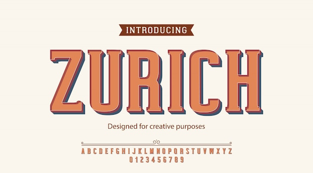 Zurich typeface. for creative purposes